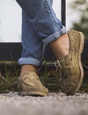Chaussure bateau avec un jean