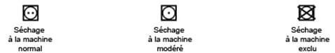 etiquette séchage machine