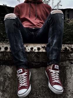 Porter jean skinny homme