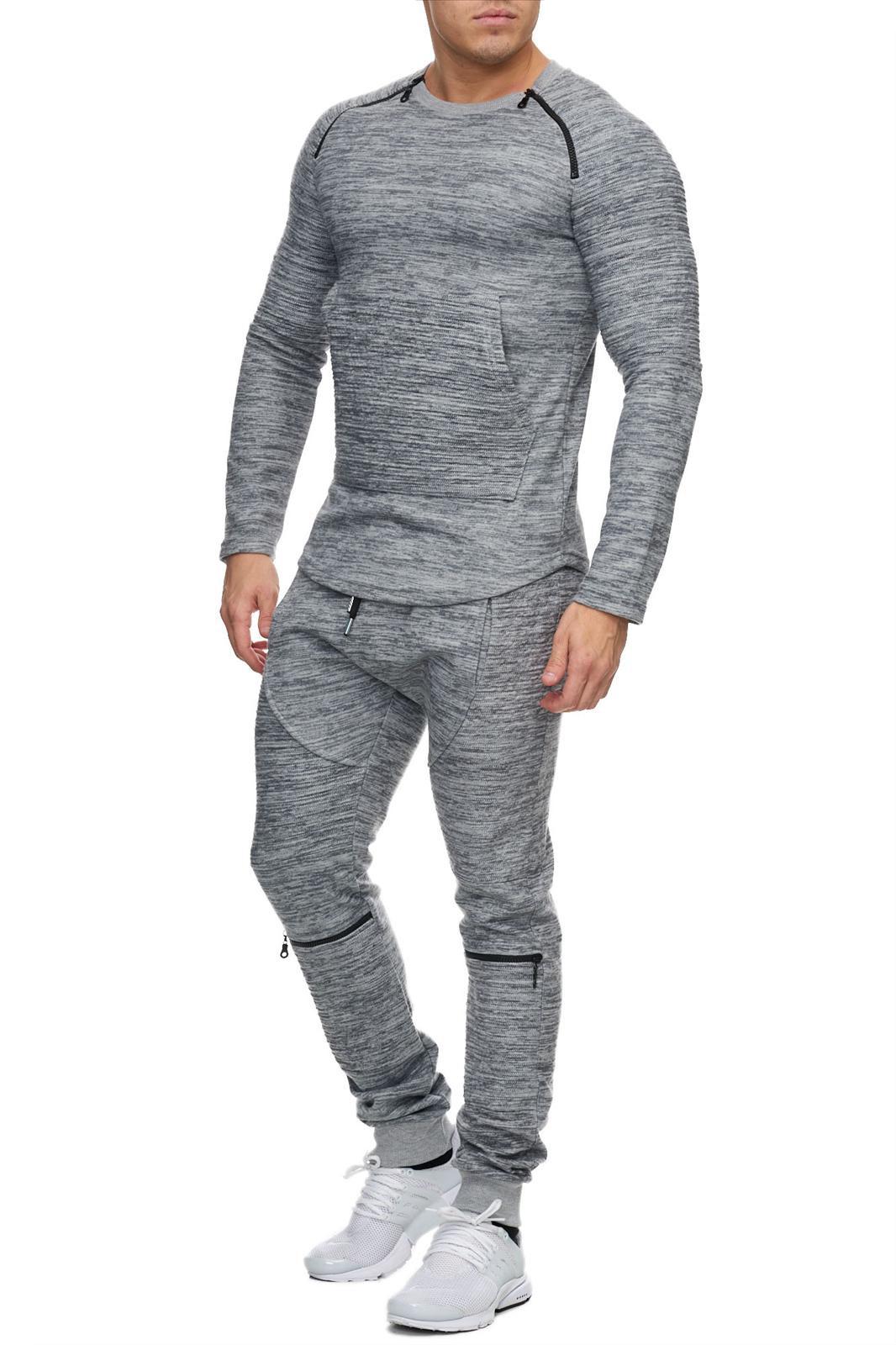 survêtement gris pour homme