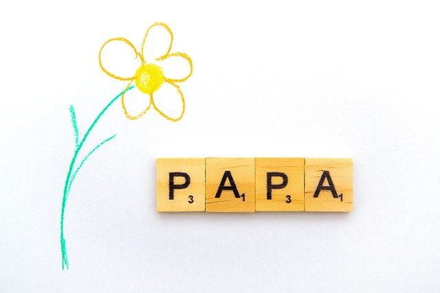 jolie fleur dessiné pur la fête des pères